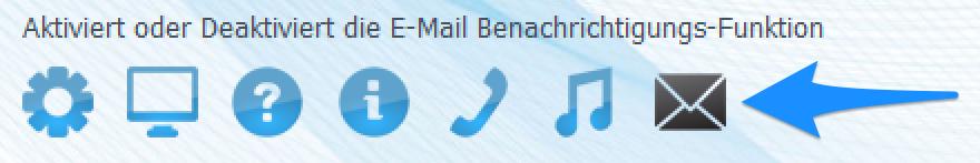 Start der E-Mail Benachrichtigung