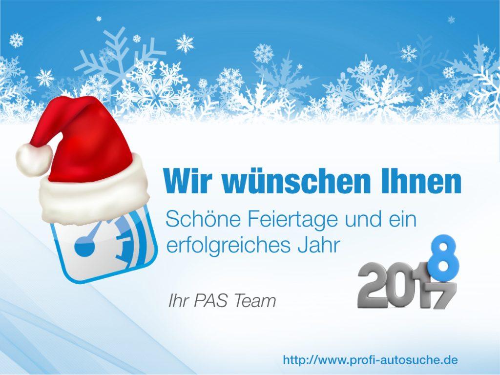 Wir wünschen schöne Feiertage und einen guten Rutsch ins neue Jahr