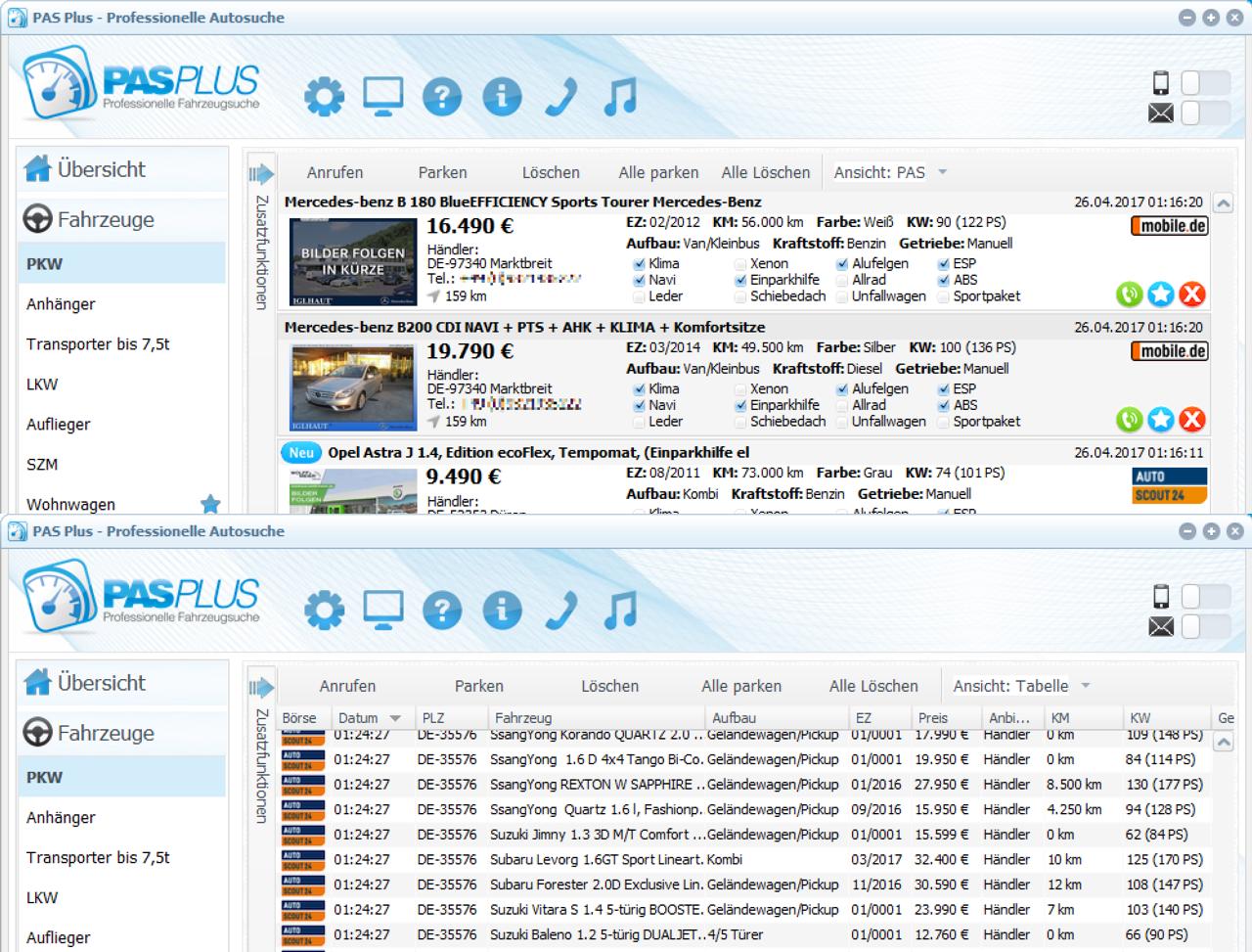 Pas Plus Das Professionelle Autosuchprogramm Autosuchsoftware