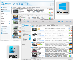Screenshot PAS Plus voor Windows en macOS