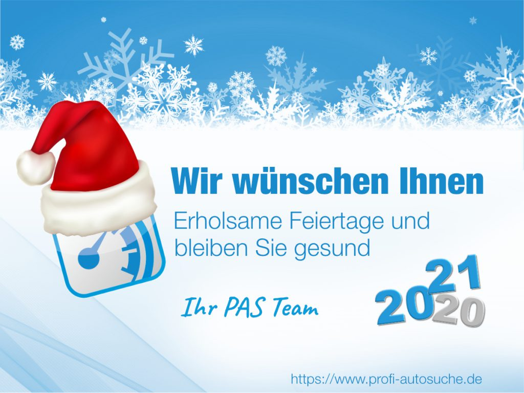 We wish you happy holidays and a happy new year - stay healthy!